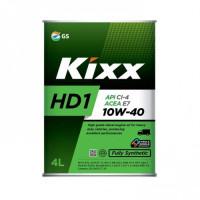 Масло моторное KIXX HD1 10W-40 CI-4/SL ACEA:E7-12 4л дизельное полусинтетическое L206144TE1