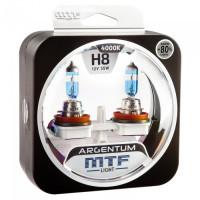 Комплект галогенных ламп MTF Light H8 Argentum +80%