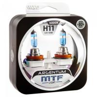 Комплект галогенных ламп MTF Light H11 Argentum +80%