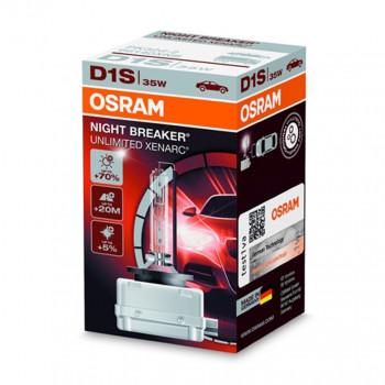 Лампа ксеноновая Osram Night Breaker Unlimited +70% D1S 85V 35W PK32d-2 66140XNB