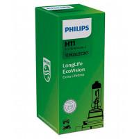 Лампа галогенная PHILIPS LongLife EcoVision H11 12V 55W (PGJ19-2) 12362LLECOC1