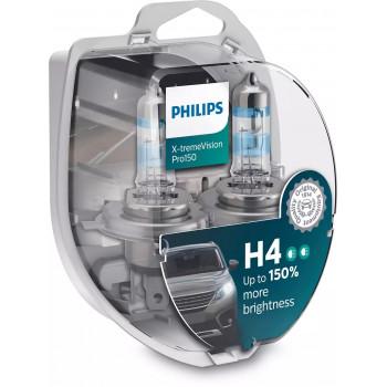 Лампа PHILIPS X-tremeVision Pro150 H4 12V 60/55W 12342XVPS2