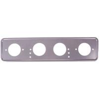Рамка для номера металл под болт серебро с порошковым покрытием без надписи SKYWAY 1шт S04101008