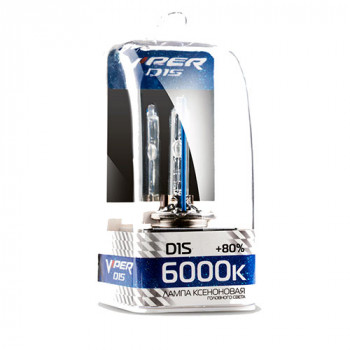 Ксеноновая лампа D1S VIPER +80% 6000K