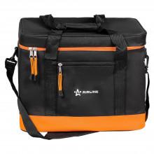 Сумка-холодильник (термосумка) 50 л, 34*42*36 см, цвет черный/оранжевый AO-CB-06