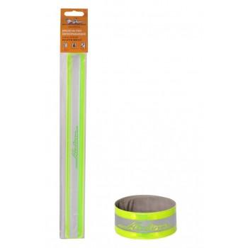 Браслет на руку, светоотражающий, 3х 30см, зеленый ARW-B-05