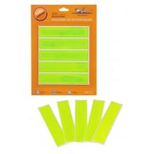 Наклейки светоотражающие, набор 5 шт.,12х2,5 см, зеленые ARW-S-04