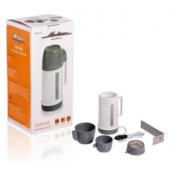 Чайник автомобильный AIRLINE 24В белый/серый пластик  ABK-24-02