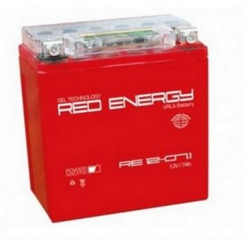 Аккумуляторная батарея Delta Red Energy 7 а/ч RS 1207.1  полярность обратная