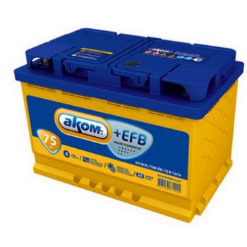 Аккумулятор Аком EFB 75А/ч-12V ст EN720