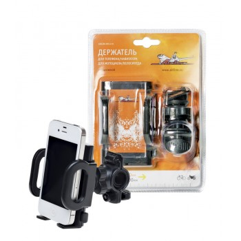 Держатель Универсал для телефона/навигатора для мотоцикла/велосипеда раздвижной AMS-U-05
