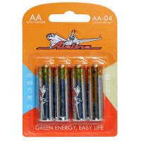 Батарейки LR6/AA щелочные 4 шт AA-04