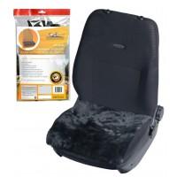 Накидка (подушка) из натурального меха на сиденье, цвет черный AFC-SH-04