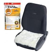Накидка (подушка) из натурального меха на сиденье, цвет белый AFC-SH-05