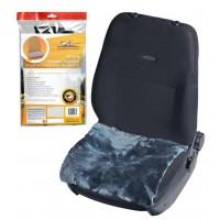 Накидка (подушка) из натурального меха на сиденье, цвет серый AFC-SH-06
