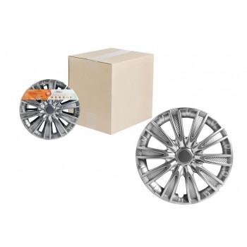 Колпаки колесные 13 дюймов Торнадо, серебристый, карбон 2шт AWCC-13-06