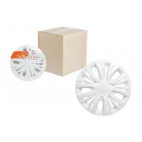 Колпаки колесные 14 дюймов Лион, белый, карбон 2шт. AWCC-14-03