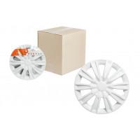 Колпаки колесные 14 дюймов Торнадо, белый, карбон 2шт. AWCC-14-08