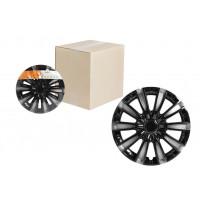 Колпаки колесные 15 дюймов Торнадо Т, серебристо-черный, карбон 2шт AWCC-15-10