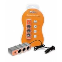 Прикуриватель-разветвитель на 3 гнезда + USB ASP-3U-03