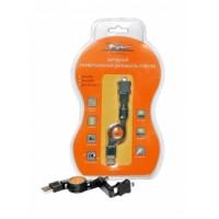 Зарядный универсальный датакабель рулетка miniUSB/microUSB/для IPhone 5 ACH-R-07
