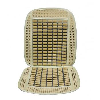 Накидка на сиденье бамбук ZHW-9020 плоские прямоугольники