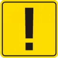 Знак Начинающий водитель AIRLINE ГОСТ, наружный, самоклеящийся (150*150 мм) 1шт. AZN03
