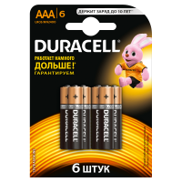 Батарейки DURACELL Basic AAA алкалиновые 1.5V LR03 6 шт. 81545427