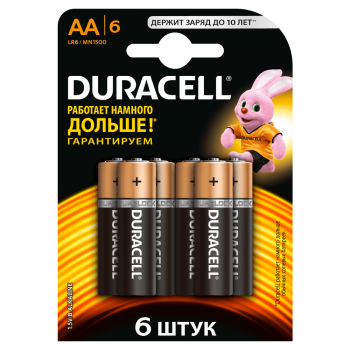 Батарейки DURACELL Basic AA алкалиновые 1.5V LR6 6 шт. 81485016