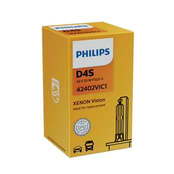 Ксеноновая лампа PHILIPS D4S 42V 35W 42402VIC1