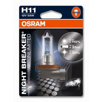 Лампа галогенная Osram Night Breaker Unlimited, H11  60/55W   1 шт.  64211NBU01B