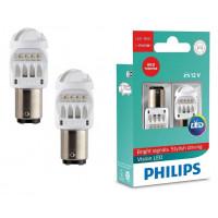 Лампа светодиодная Philips P21/5W LED 21/5W 12836REDX2  2шт.