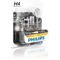 Лампа галогенная Philips H4 (60/55W) P43t-38 Premium Moto 12V 12342PR BW