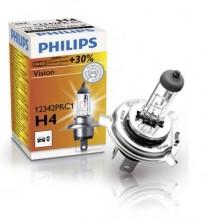 Лампа галогенная Philips  H4 (60/55W) P43t-38 12V   Premium +30%  12342PRC1