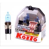 Лампа галоген высокотемпературная Koito Whitebeam H3c 12V 55W (100W) комплект 2 шт. P0753W