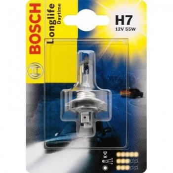 Лампа галогенная BOSCH  LONGLIFE DAYTIME PLUS  H7 12V 55W [блистер] 1987301057