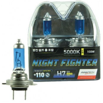Лампа галогенная AVANTECH Night Fighter H7 12V 55W 5000K AB5007