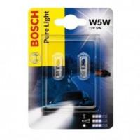Лампа BOSCH  [2шт]  W5W 12V 5W [блистер] 1987301026