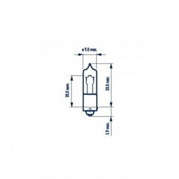 Лампа H21W 12V 21W BAY9s NVA CP (10) STANDARD 68191