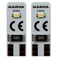 Лампа автомобильная NARVA W5W 12V 6000K 0.5W W2.19.5d 18001