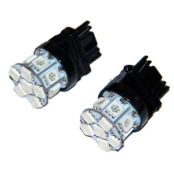 Светодиодная лампа T25 W27W 3156   12v  красный