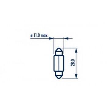 Автолампа NARVA T10.5x30 STANDART 12V 10W 17315300