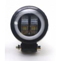 Светодиодная фара рабочего света круглая 4LED 2 режима G0029