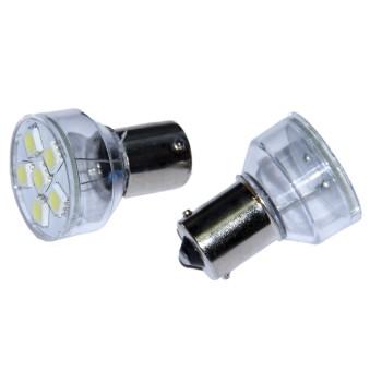 Автолампа светодиодная 1156 P21W - S25 - BA15s - 6 SMD 5050