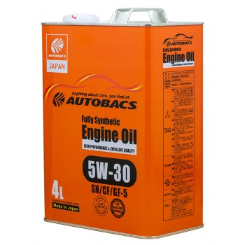 Масло моторное AUTOBACS Fully Synthetic 5W-30 SN/CF/GF-5  4л.