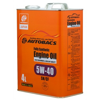 Масло моторное AUTOBACS Fully Synthetic 5W-40 SN/CF  4л.