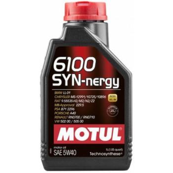 Моторное масло MOTUL 6100 SYN-NERGY SAE 5W40  1л.  107975