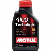 Моторное масло MOTUL 4100 Turbolight 10W-40, полусинтетическое, 1л  108644