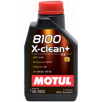 Моторное масло MOTUL 8100 X-clean+ 5W-30 1 л 106376