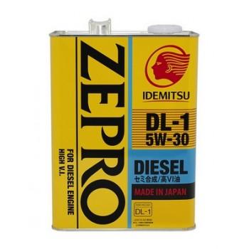 Масло моторное IDEMITSU Zepro Diesel  DL-1  5W-30 синтетическое 4л. Япония